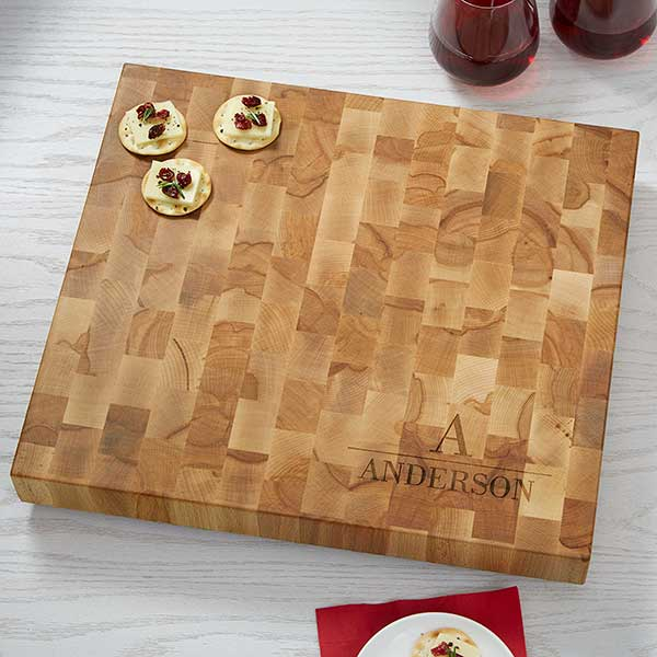 Butcher Block Cutting Board - Monogram