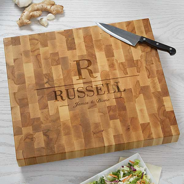 Butcher Block Cutting Board - Name