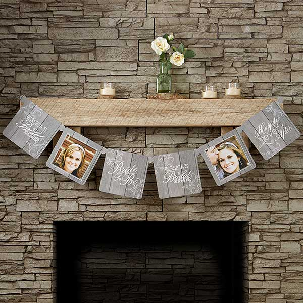 Rustic Bridal Shower Photo Paper Banner