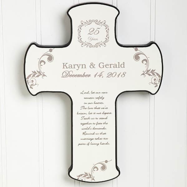Our Anniversary Blessing Personalized Cross