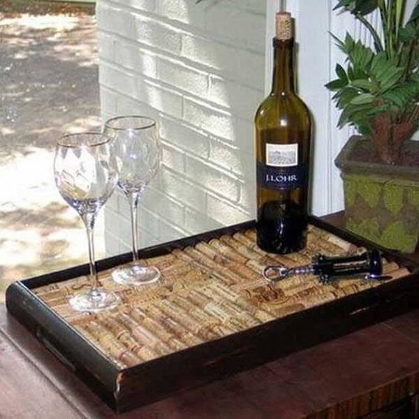 Wine Cork Wedding Guestbook Serving Tray