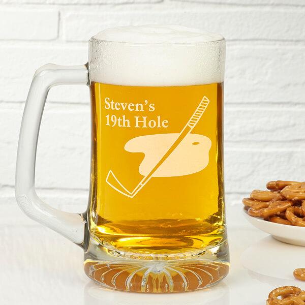 The 19th Hole Personalized Glass Mug