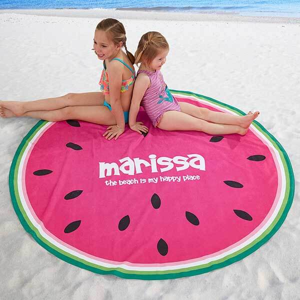 Fruit Slices Custom Round Beach Towels