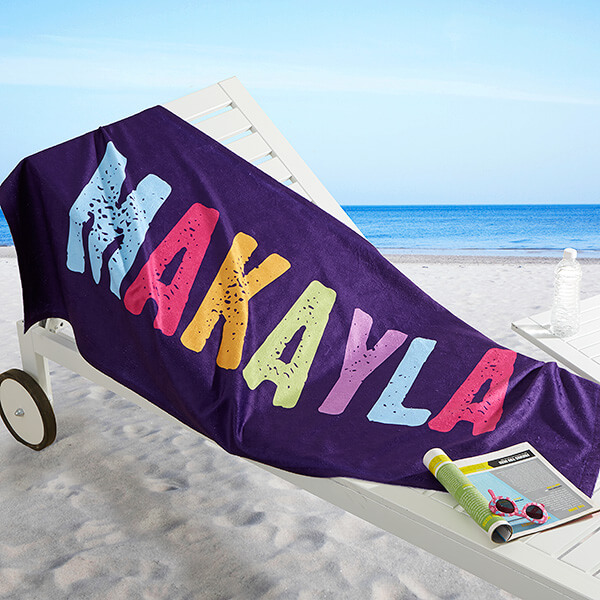 Personalized Beach Towels for Teens