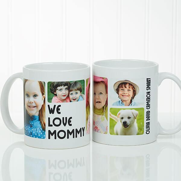 5 Photos Loving Message Personalized Coffee Mug