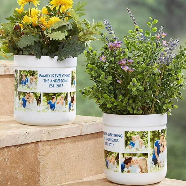 Picture Perfect Personalized Outdoor Flower Pot