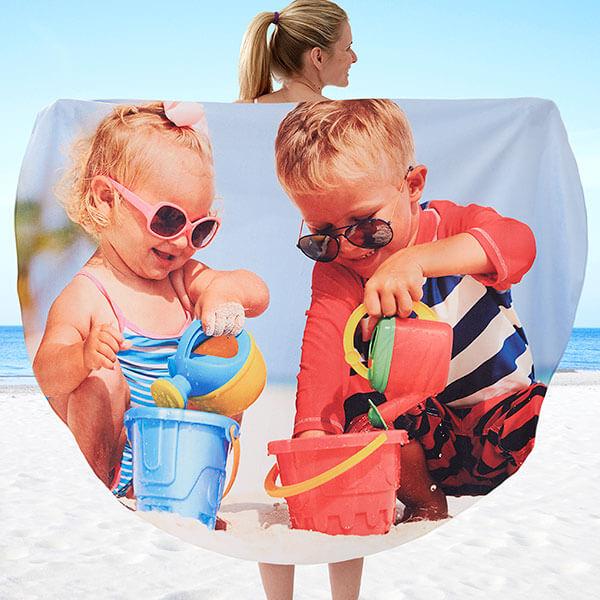 Round Photo beach Blanket