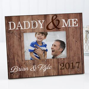 Daddy & Me Personalized Rustic Picture Frame