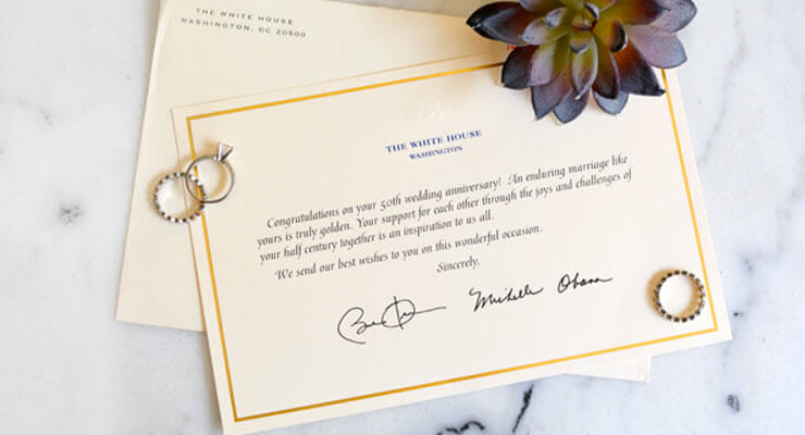 White House Anniversary Greeting