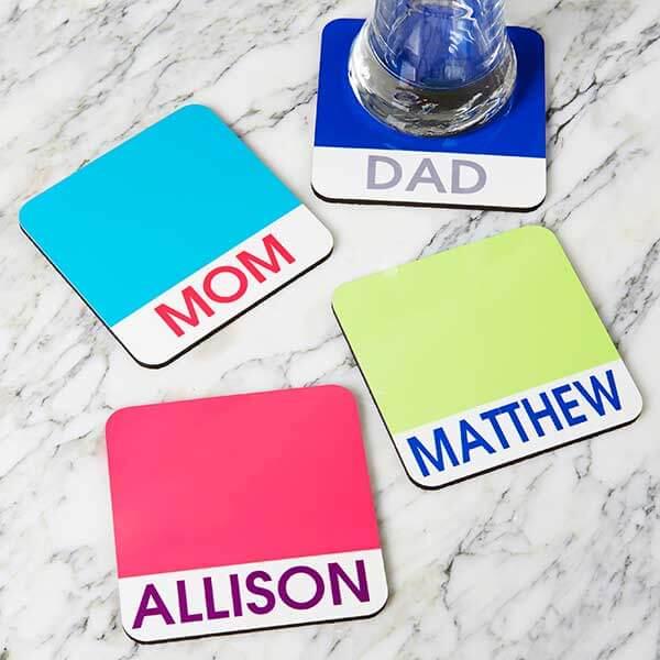 Custom Name Coasters