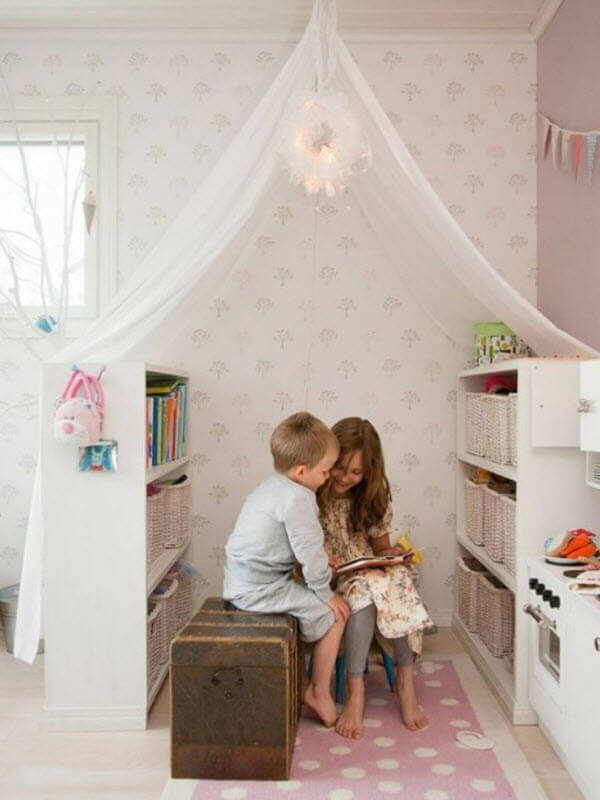 Reading Nook With Book Shelves