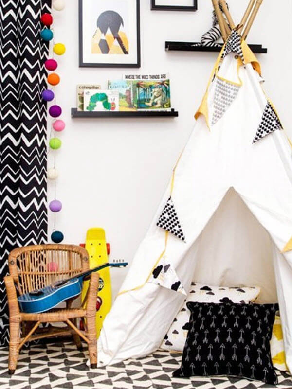 Reading Nook In A Teepee