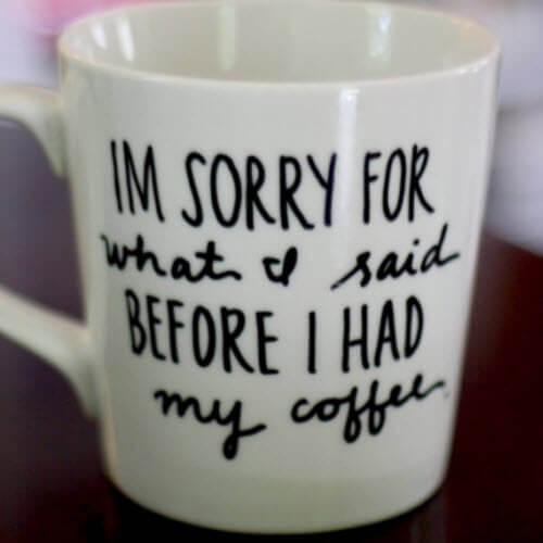 Sorry For What I Said Mug