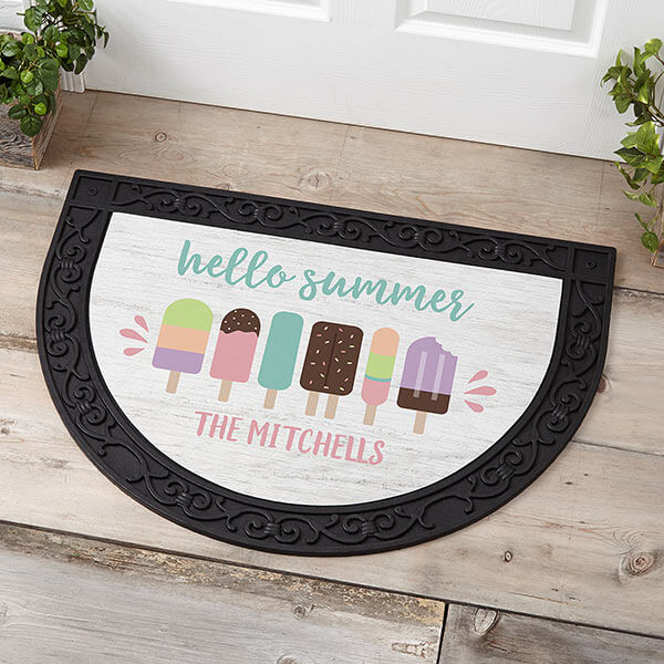 Summer Popsicle Personalized Doormat