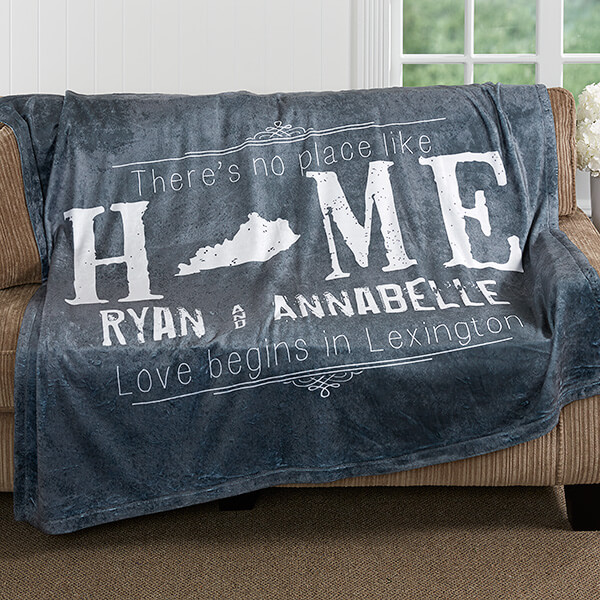 Real Estate Closing Gifts - Personalized Blanket
