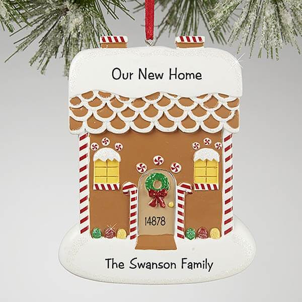 Real Estate Closing Gifts - Gingerbread Home Ornament