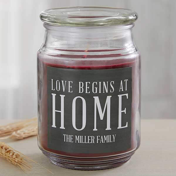 Real Estate Closing Gifts - Love Begins At Home Candle