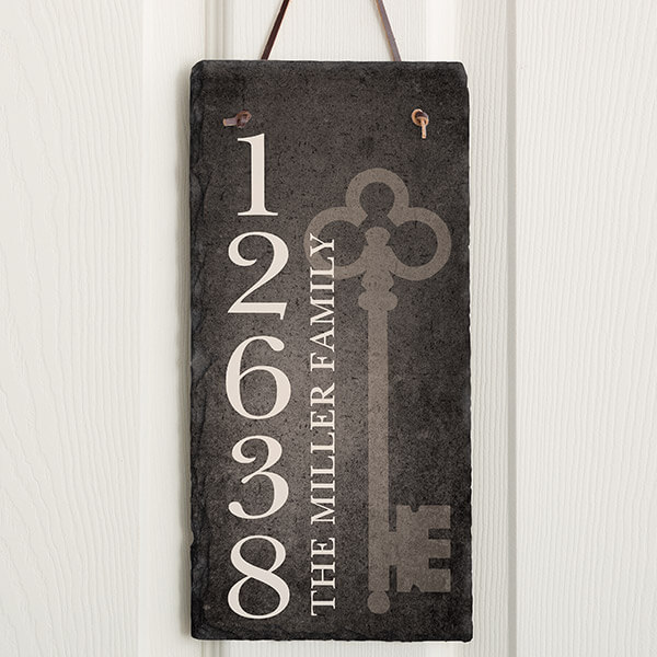 Real Estate Closing Gifts - Address Plaque