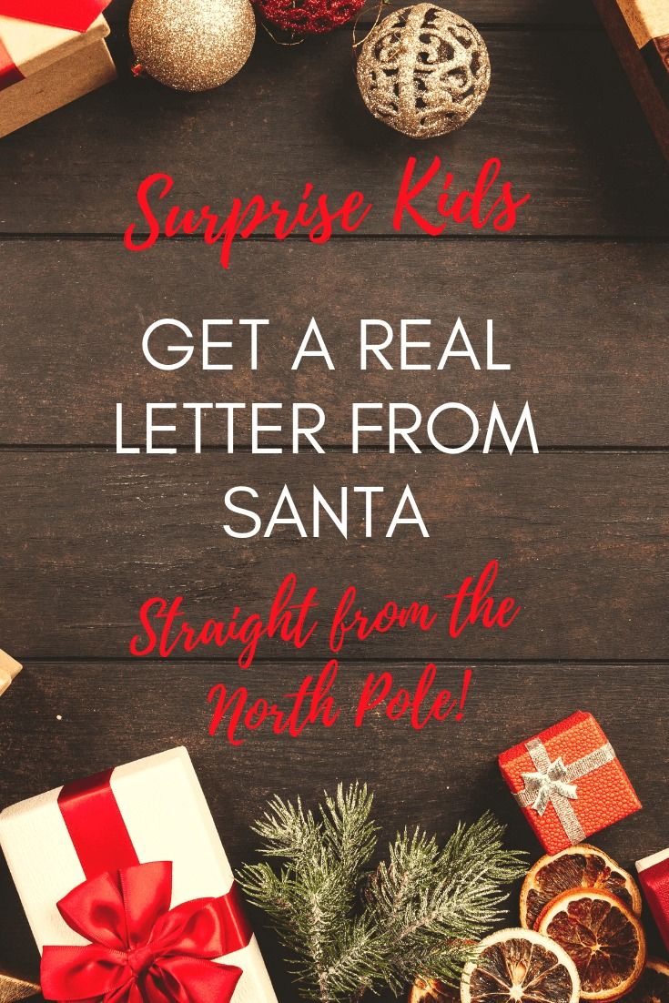 Get a real letter from Santa