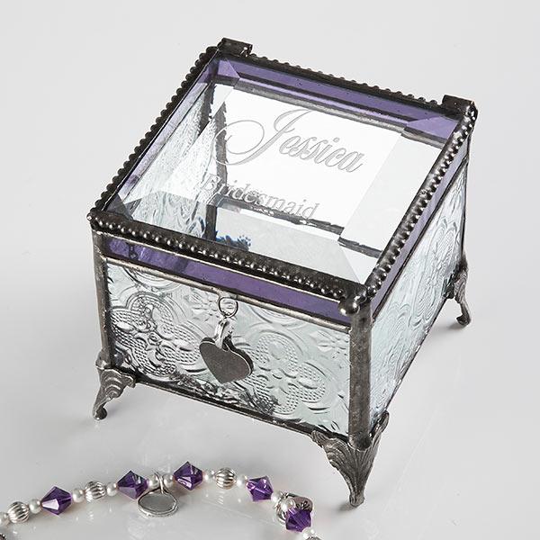 Engraved Bridesmaid Jewelry Box