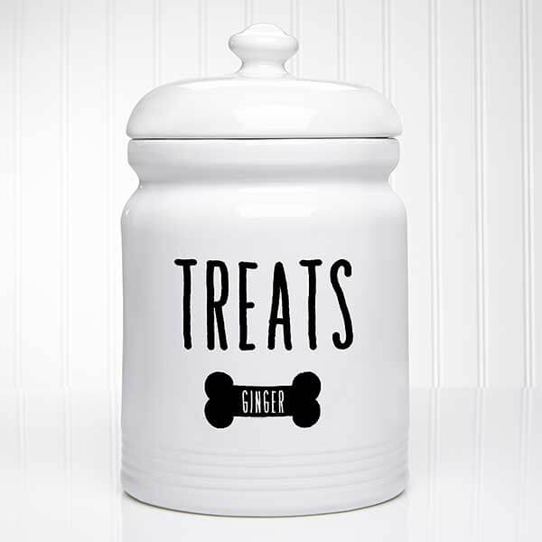 Personalized Dog Treat Jar - Kitchen Counter Decor Ideas