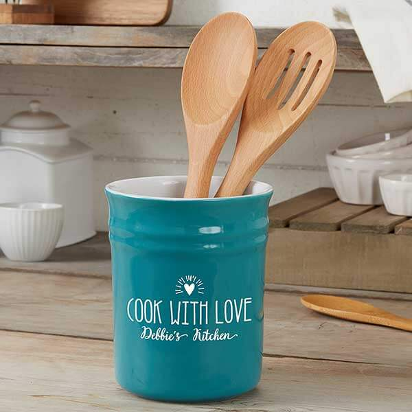 Engraved Utensil Holder - Kitchen Counter Decor Ideas