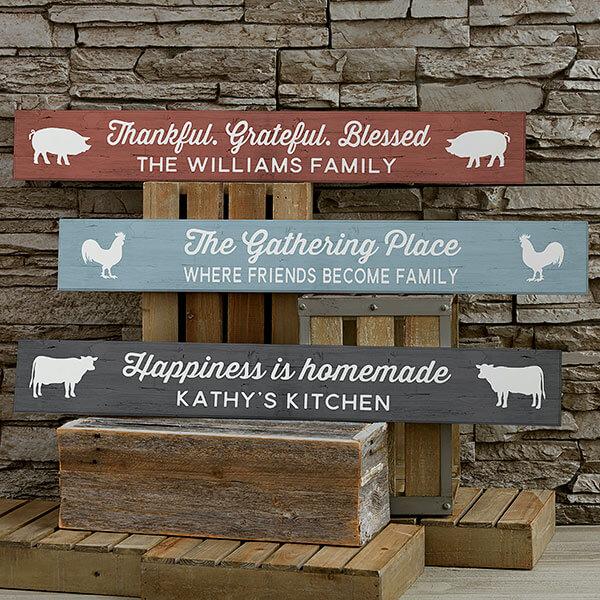 Personalized Kitchen Sign - Kitchen Counter Decor Ideas