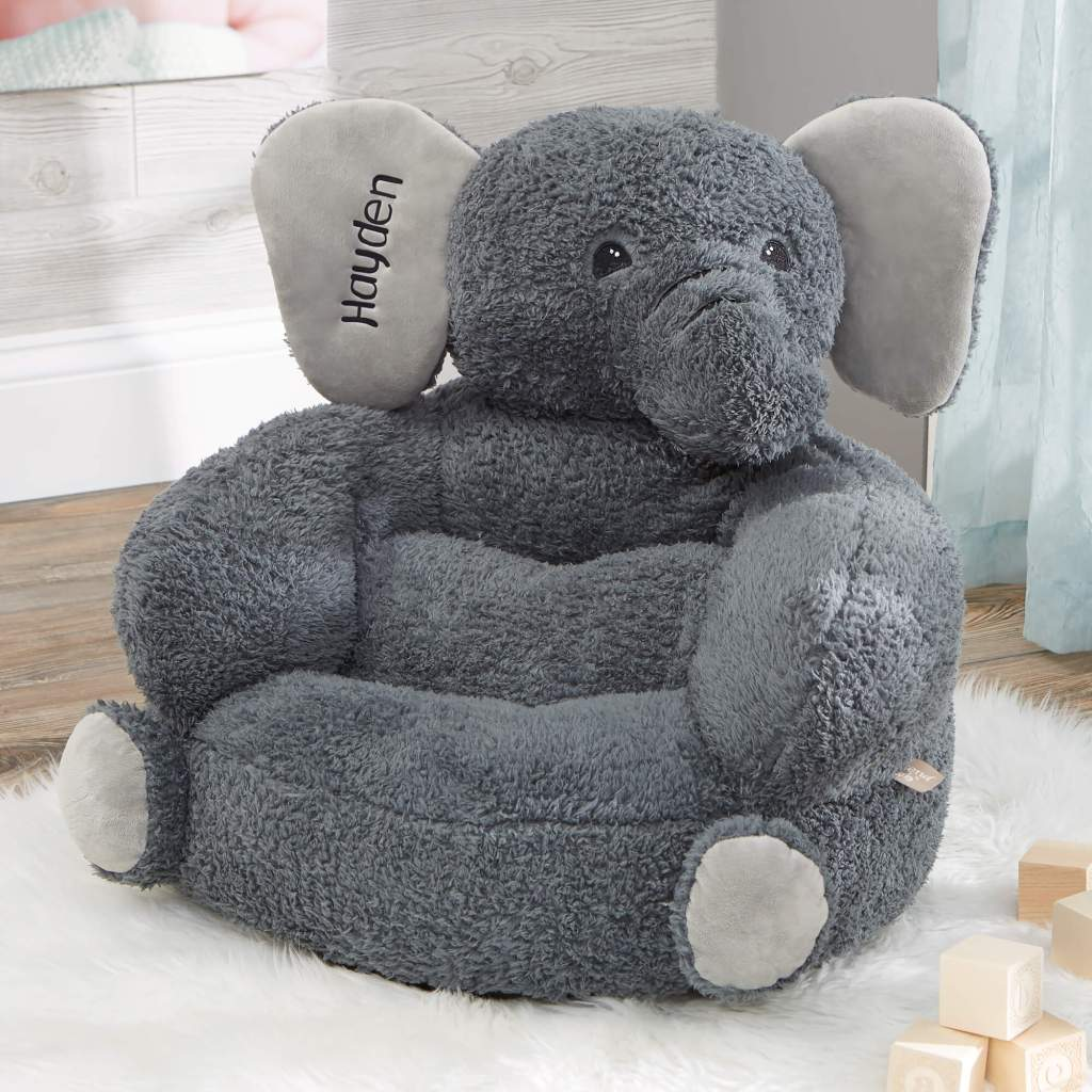 Elephant Nursery Decor - Plush Chair