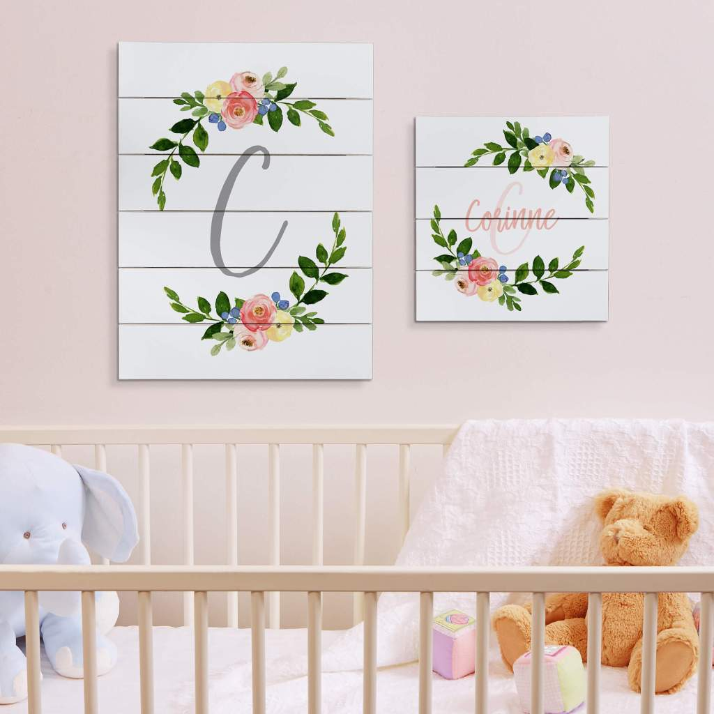 Floral Nursery Decor - Wall Art