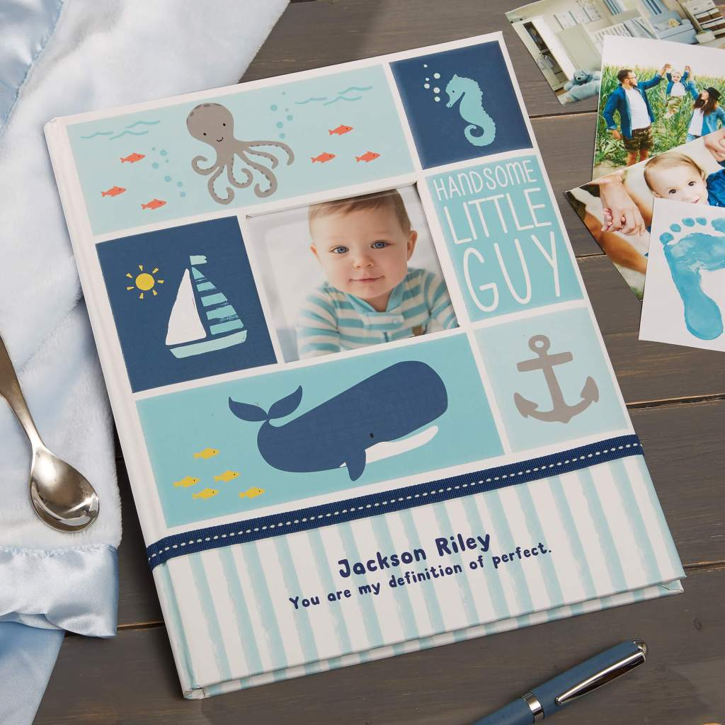 Nautical Nursery Decor - Baby Memory Book