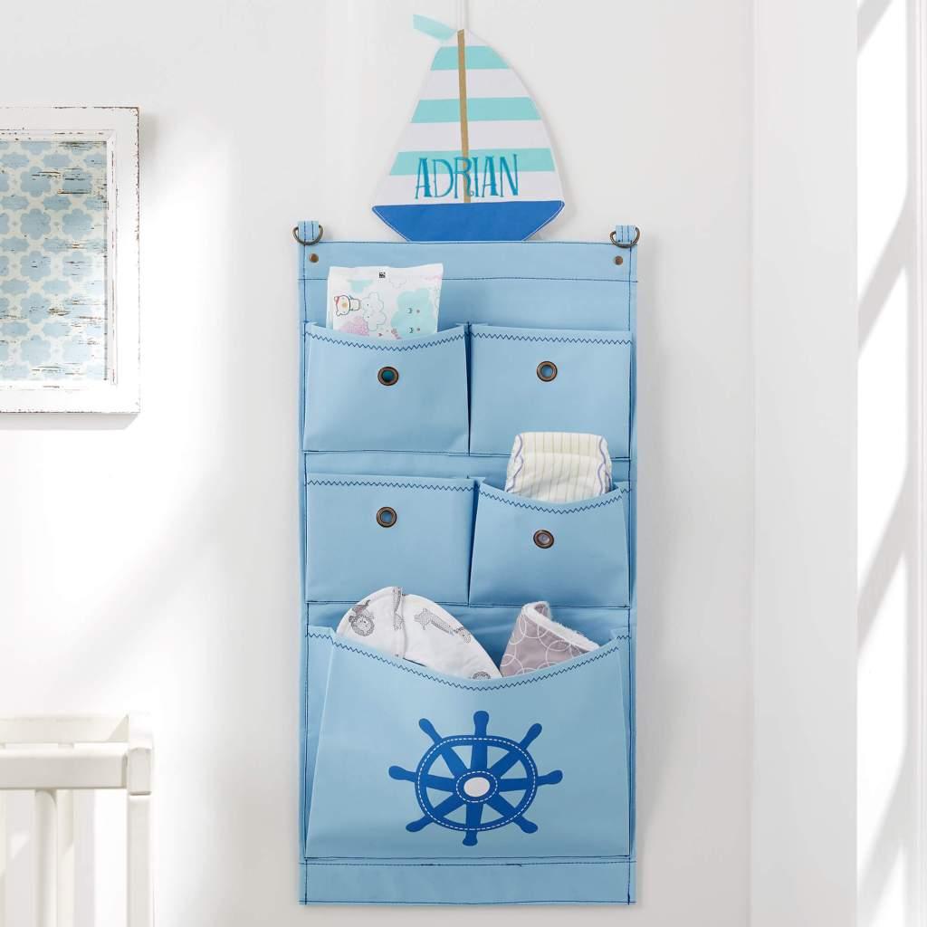 Nautical Nursery Decor - Wall Storage Organizer