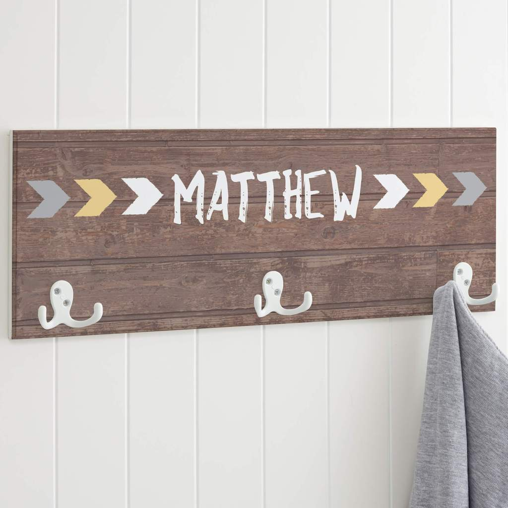 Rustic Nursery Decor - Wall Hooks