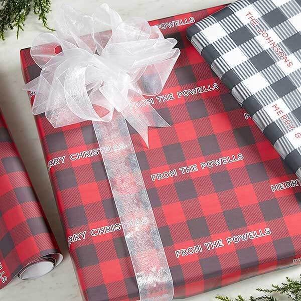 Plaid Wrapping Paper Ideas