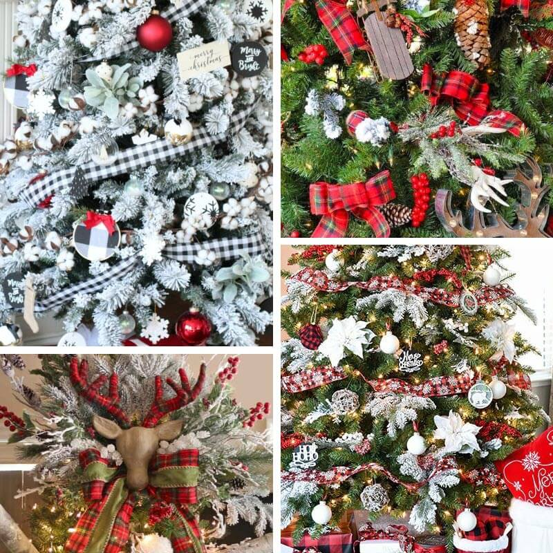 Plaid Christmas Tree Decor Ideas
