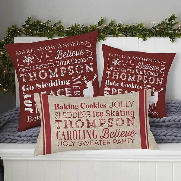 First Married Christmas Throw Pillows