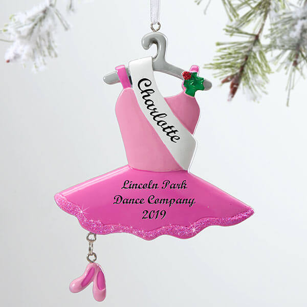 Personalized Kids Ballerina Ornament