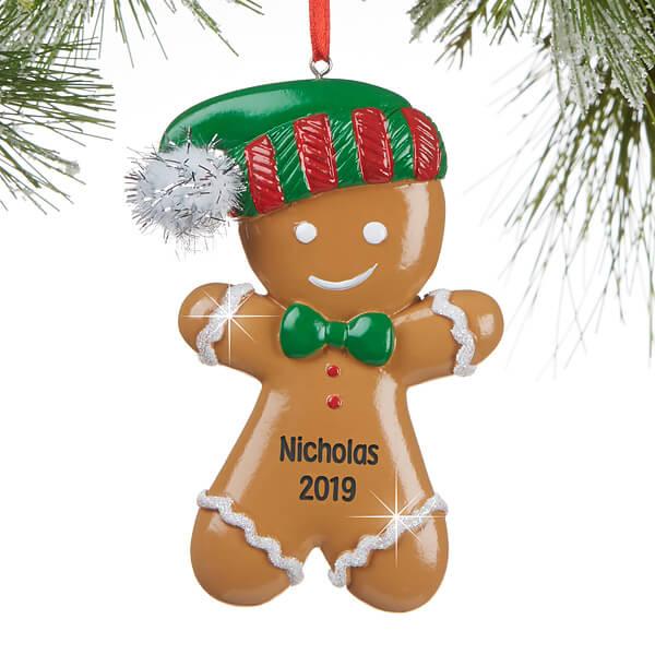 Personalized Kids Gingerbreadman Ornament