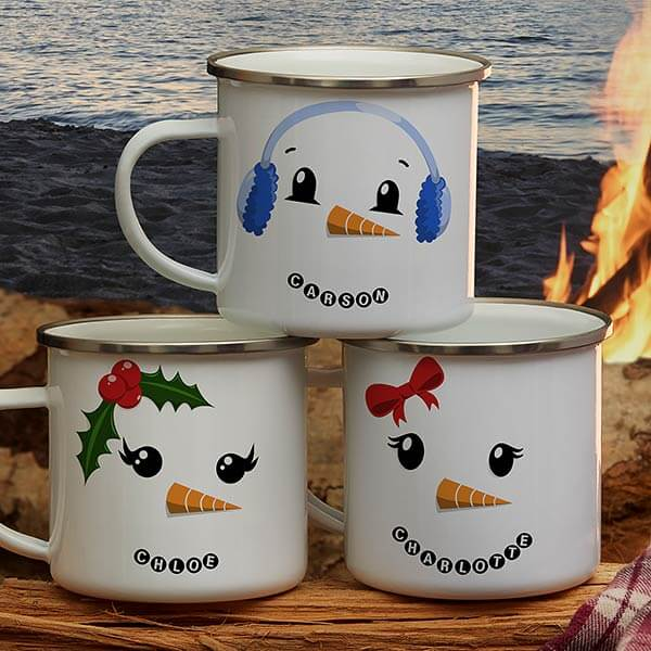 Snowman Character Christmas Mugs