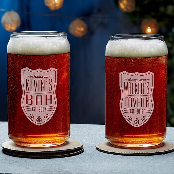 Engraved Beer Can Glasses