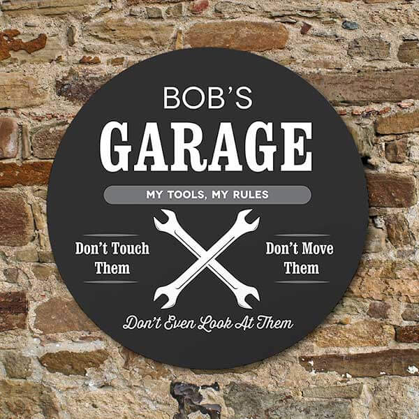 Personalized Garage Sign for Dad