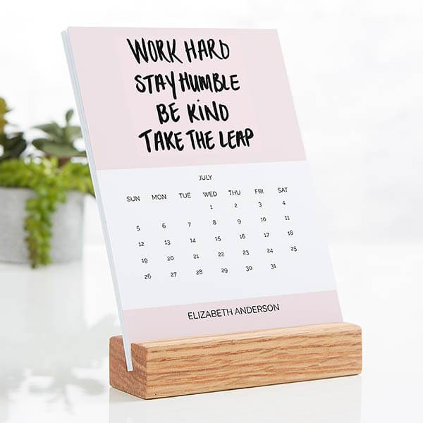Wood Easel Desk Calendars