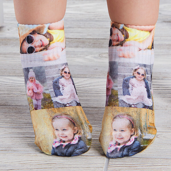 Toddler Photo Collage Socks