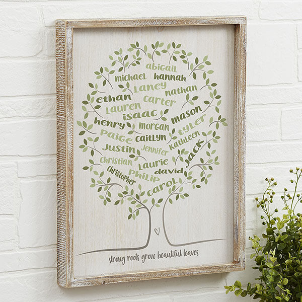 Family Tree of Life Personalized Wall Art