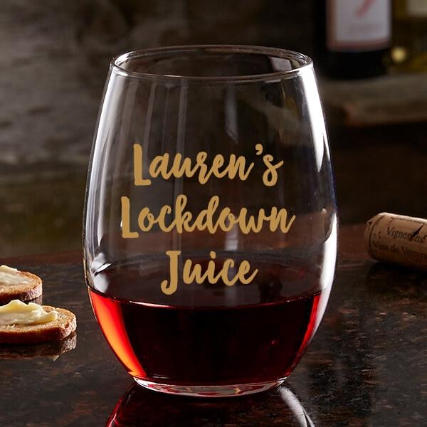 Lockdown Juice Wine Glass