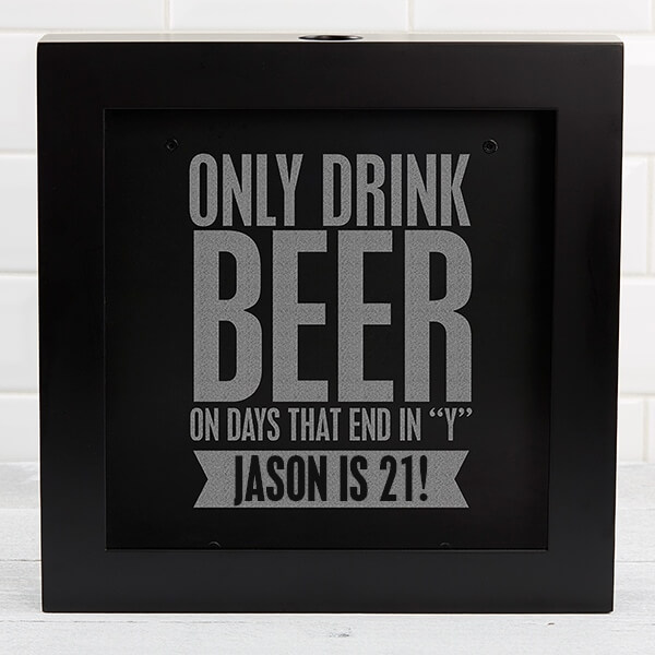 Beer Quotes Shadow Box