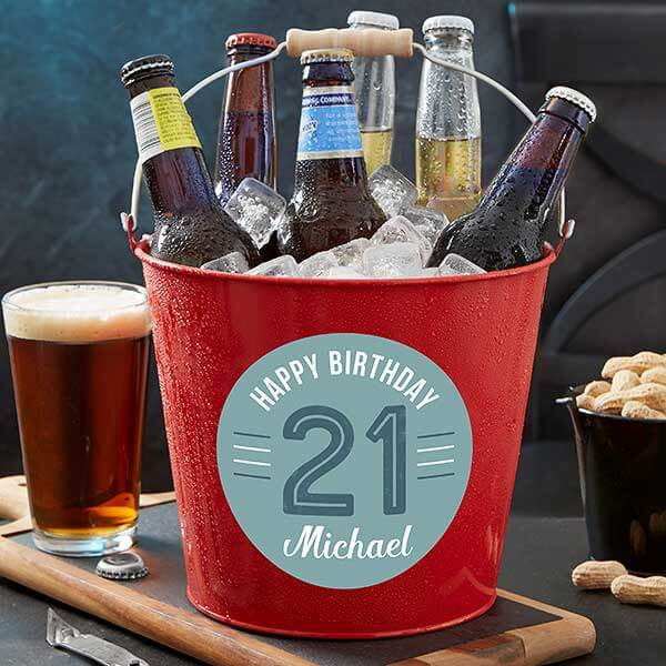 Birthday Metal Bucket
