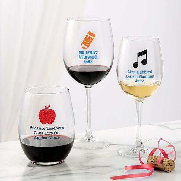 Teacher Wine Glass