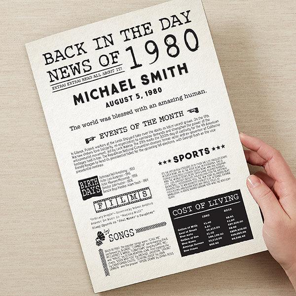Unique 40th Birthday Gift Ideas For Men Women Best gift ideas of 2021. unique 40th birthday gift ideas for men