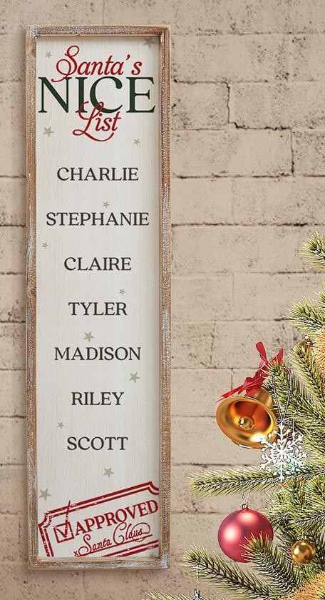 Santa's Nice List Wall Art