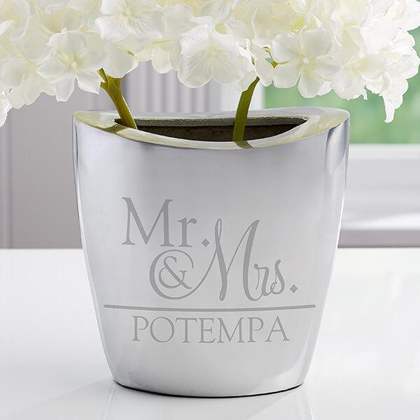 10th Anniversary Gift - Aluminum Flower Vase